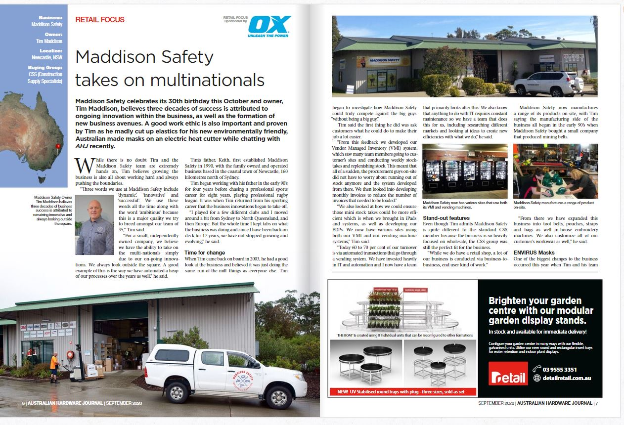 Maddison Safety Feature in The Hardware Journal