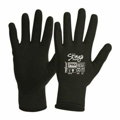GLOVE STINGA FROST BLACK PVC FOAM