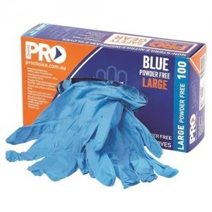 GLOVE DISPOSABLE NITRILE BLUE