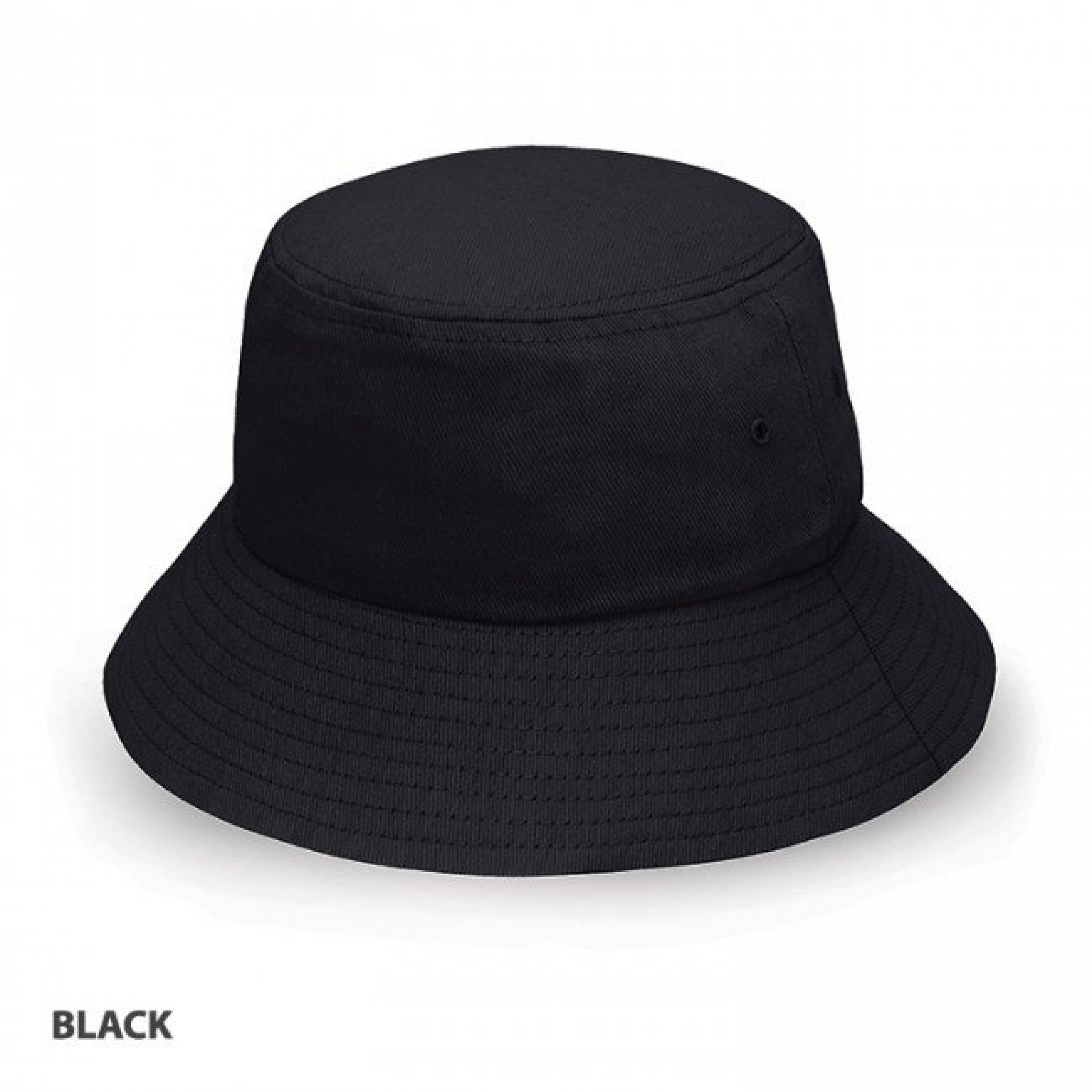 BUCKET HAT HEAVY BRUSHED COTTON BLACK L-XL