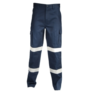 TROUSER CARGO DOUBLE HOOPS REF TAPED NAVY