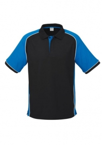 SHIRT POLO NITRO MENS BLK/ROYAL/WHTE XL