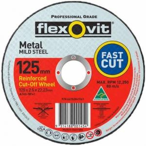 FLEXOVIT METAL CUT DISC 125 X 2.5 X 22