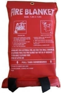 FIRE BLANKET 1.2 X 1.2M SOFT NYLON CASE