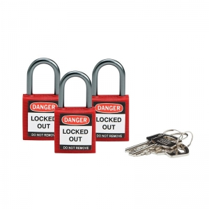 S/LOCK 410 KEYED ALIKE RED (3LOCKS-1SET)