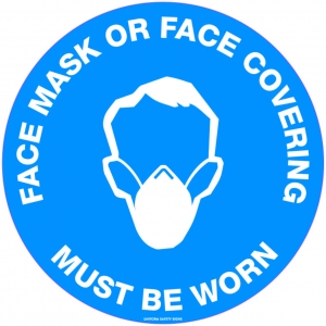FLOOR GRAPHIC FACE MASK MUST BE WORN 300MM