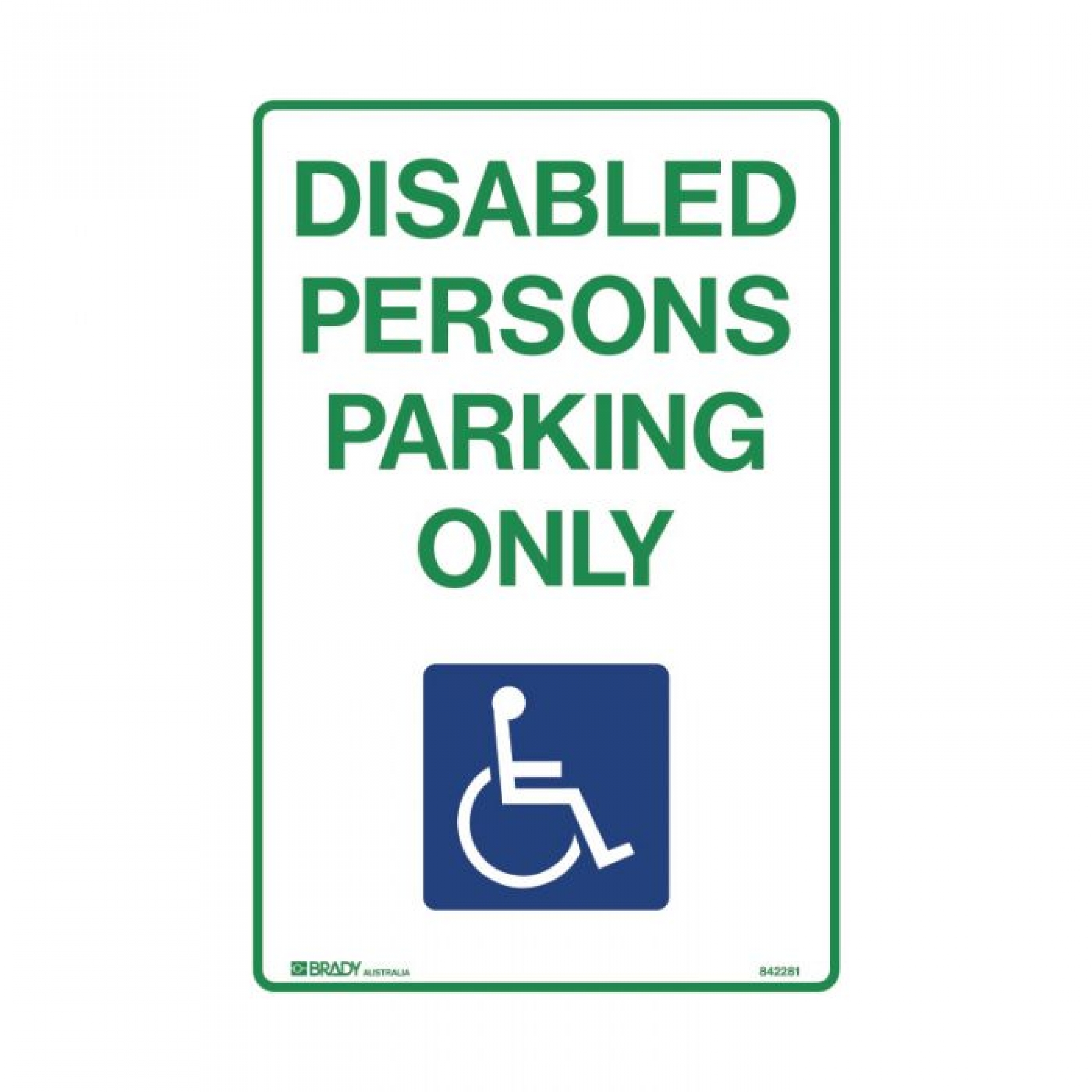 SIGN DISABLED PERSON PARK 450 X 300 MTL