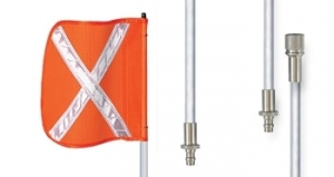 FLAG VEHICLE 3 MTR 2 PCE POLE REF X WITH ADAPTOR