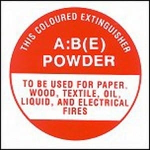 SIGN FIRE EXTINGUISHER ABE 190MM SQUARE