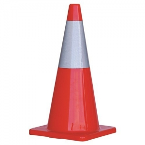 TRAFFIC CONE 700MM REFLECTIVE